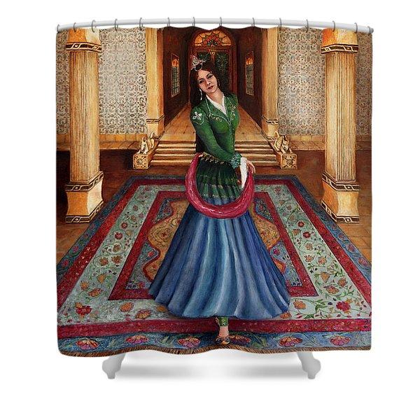 The Court Dancer Shower Curtain
