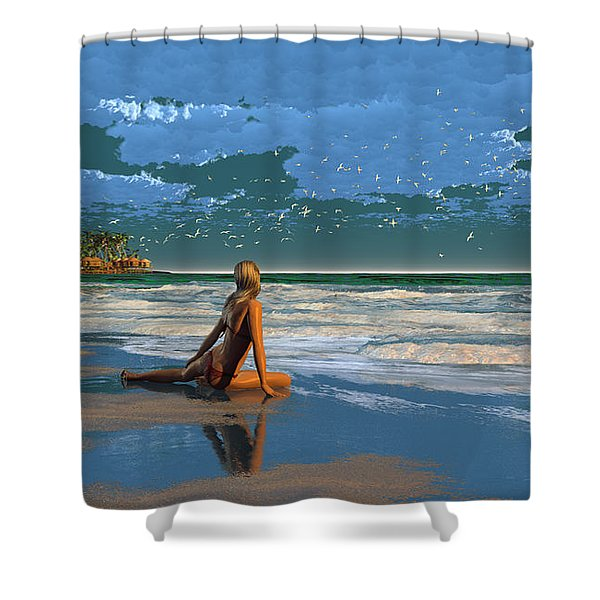 The Courtship Of Sand Shower Curtain