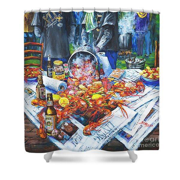 The Crawfish Boil Shower Curtain