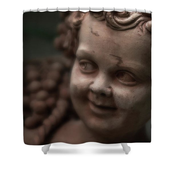 The Creepy Statue Shower Curtain
