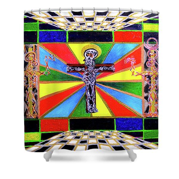 The Crucifffictiooon - Paradisi Gloooria Shower Curtain