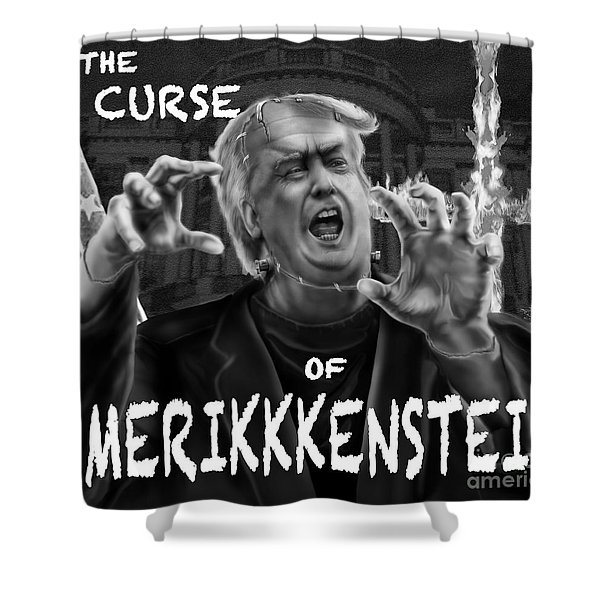 The Curse Of Amerikkenstein Shower Curtain