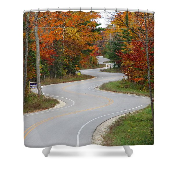 The Curvy Road Shower Curtain