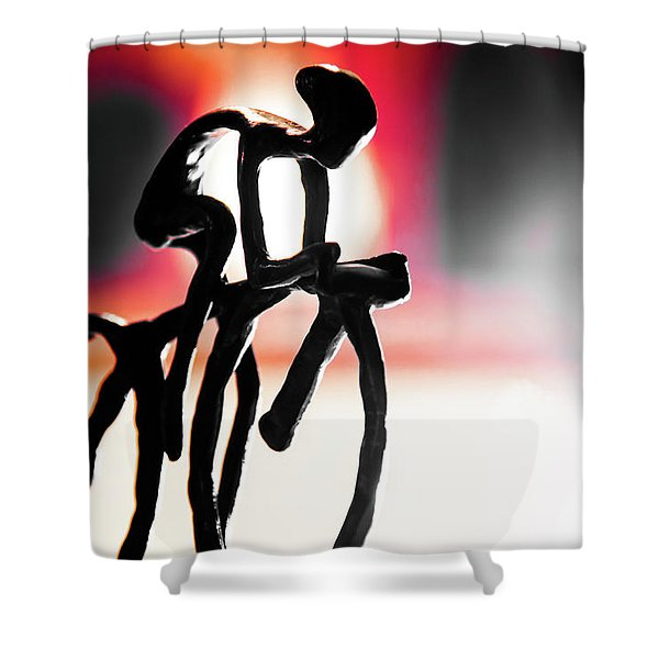 The Cycling Profile  Shower Curtain