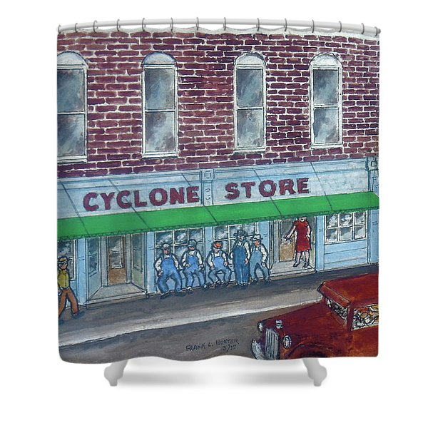 The Cyclone Store 1948 Shower Curtain