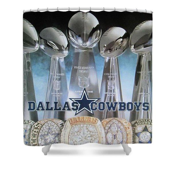 The Dallas Cowboys Championship Hardware Shower Curtain