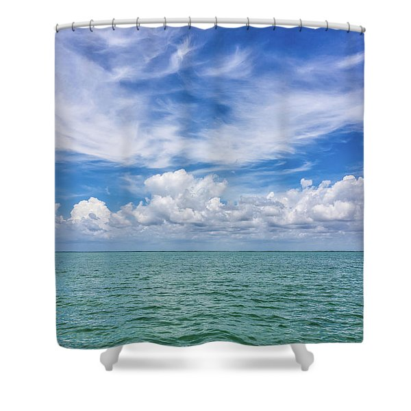 The Dance Of Clouds On The Sea Shower Curtain