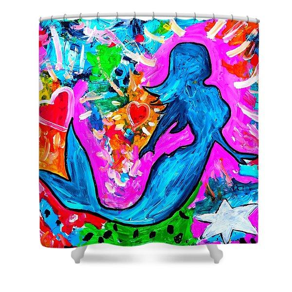 The Dancing Mermaid Shower Curtain
