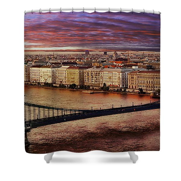 The Danube River In Budapest Shower Curtain