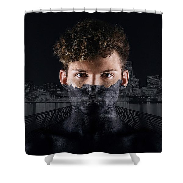 The Dark Side Of A City Boy Shower Curtain