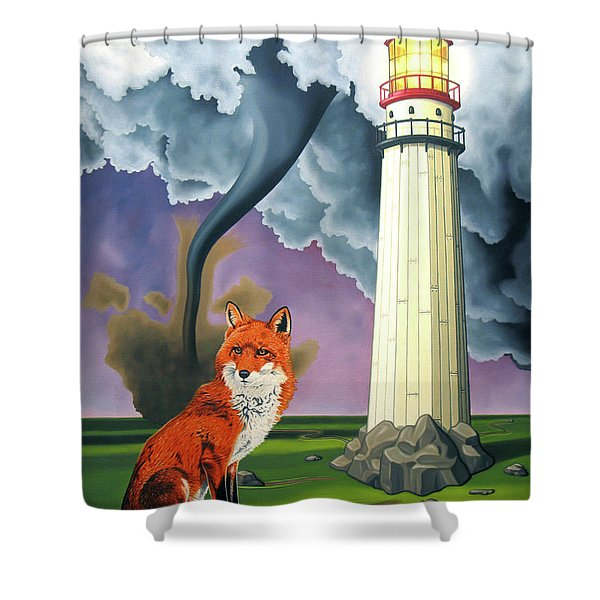 The Day The Rocks Ran Away Shower Curtain