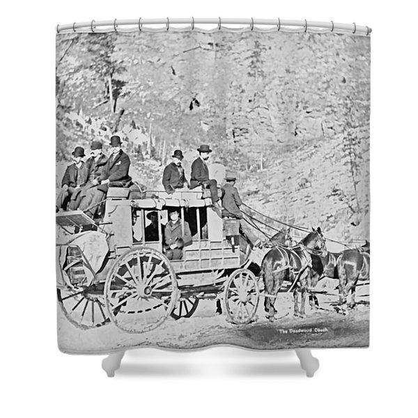 The Deadwood Coach Shower Curtain