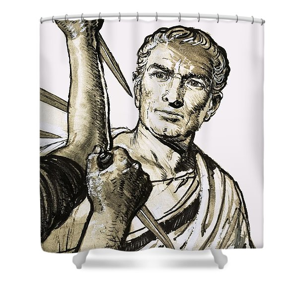 The Death Of Caesar Shower Curtain