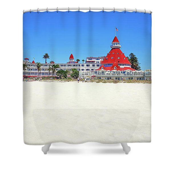 The Del Coronado Hotel San Diego California Shower Curtain