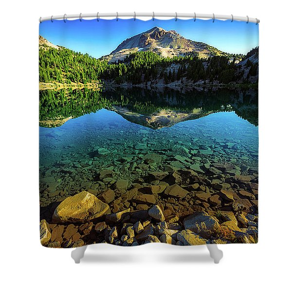 The Depths Of Lake Helen Shower Curtain