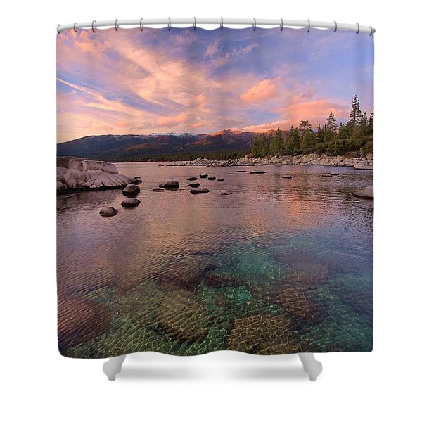 Shower Curtain featuring the photograph   The Depths Of Sundown by Sean Sarsfield