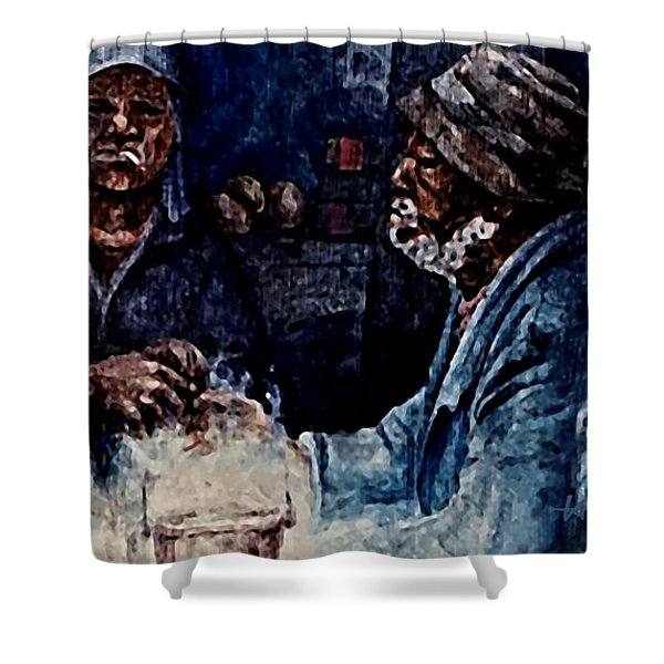 The  Desolation Of Poverty Shower Curtain