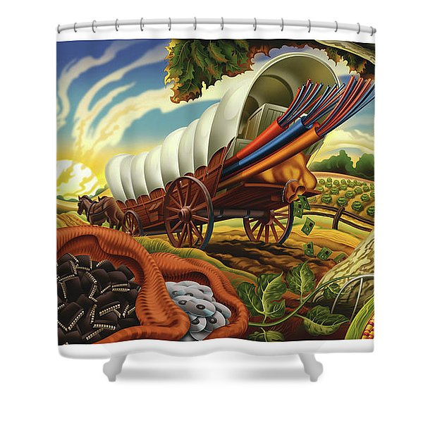 The Digital Pioneers Shower Curtain