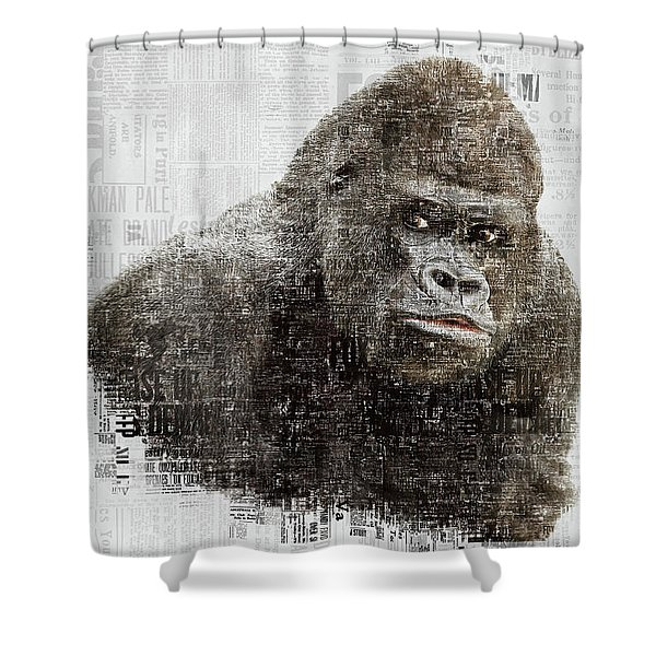 The Dignity Of A Gorilla Shower Curtain