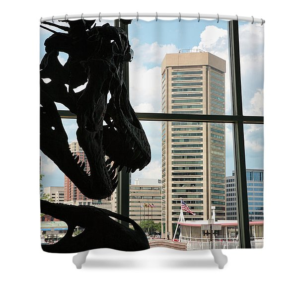 The Dinosaurs That Ate Baltimore Shower Curtain