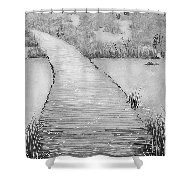 The Divine Path Shower Curtain