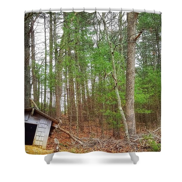 The Doghouse  Shower Curtain
