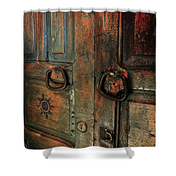 The Door Of Many Colors Shower Curtain