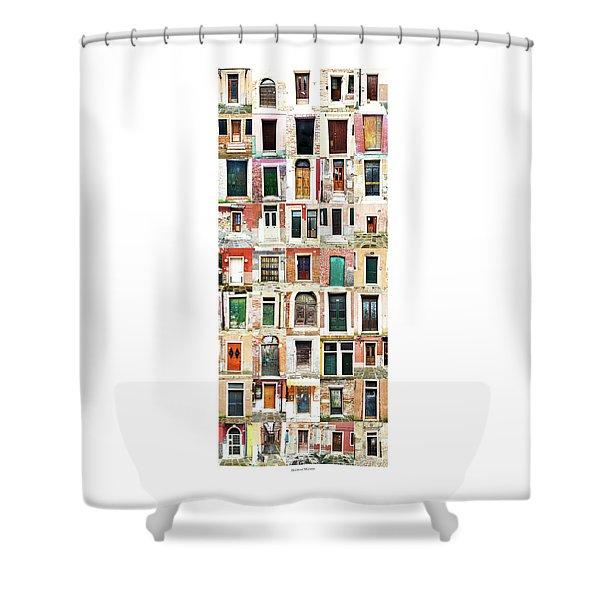 The Doors Of Murano Italy Shower Curtain