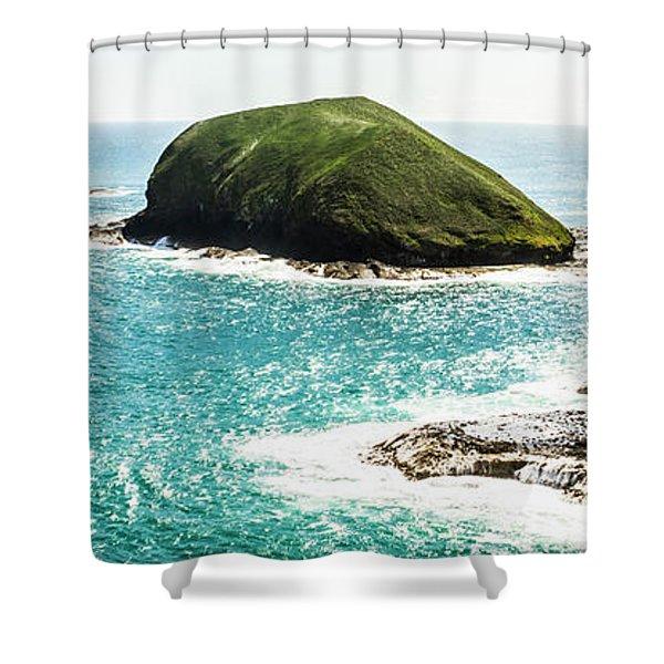 The Doughboys Island Landscape Shower Curtain