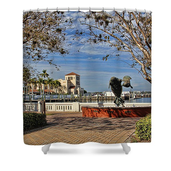 The Downtown Bradenton Waterfront Shower Curtain