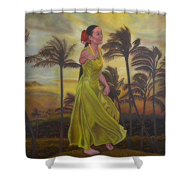 The Green Dress Shower Curtain