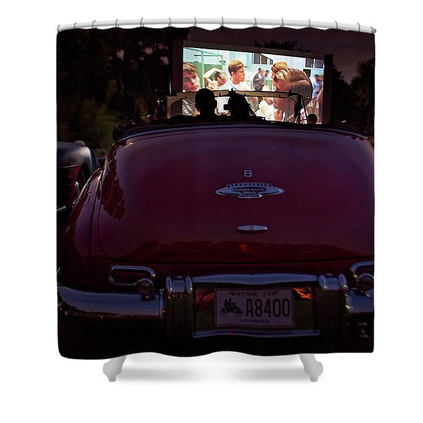 The Drive- In Shower Curtain