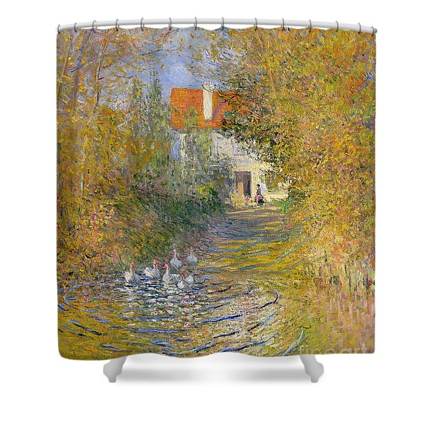 The Duck Pond Shower Curtain