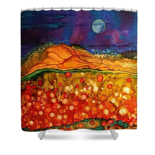 The Dunes At Night Shower Curtain