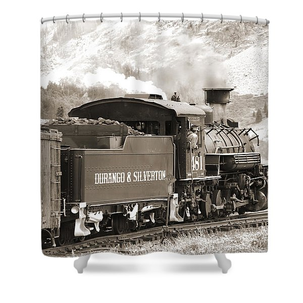 The Durango And Silverton Into The Mountains Shower Curtain