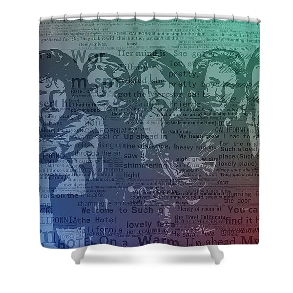 The Eagles Hotel California Shower Curtain