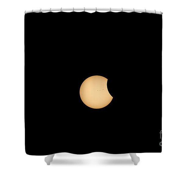 The Eclipse Begins Shower Curtain