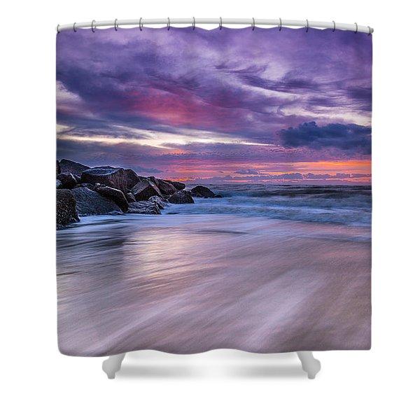 The Edge - Folly Beach, Sc Shower Curtain