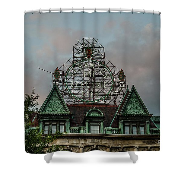 The Electric City Shower Curtain