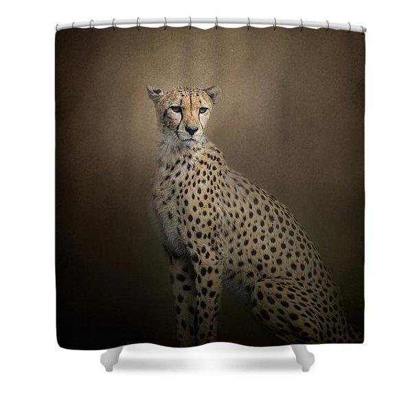 The Elegant Cheetah Shower Curtain