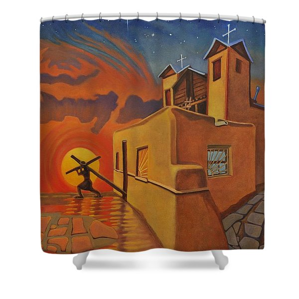 The Emancipation Of Christ Shower Curtain