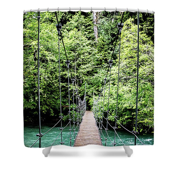 The Emerald Crossing Shower Curtain