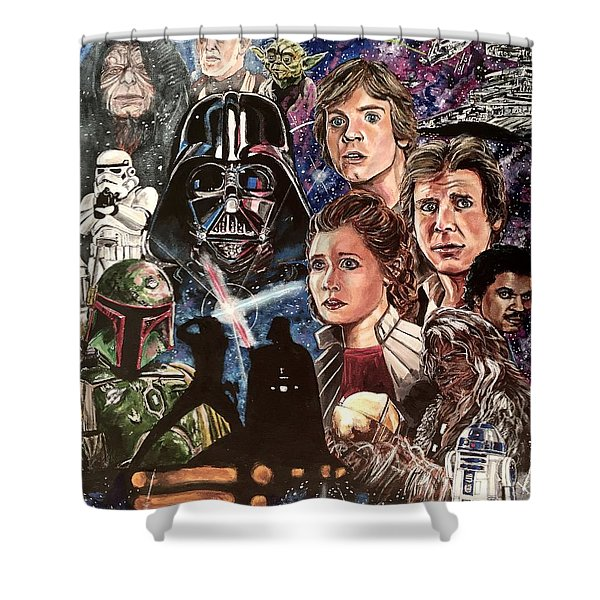 The Empire Strikes Back Shower Curtain