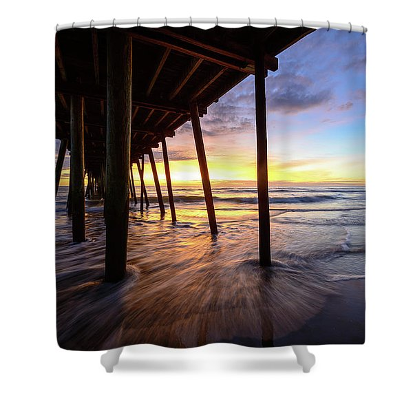 The Enchanted Pier Shower Curtain