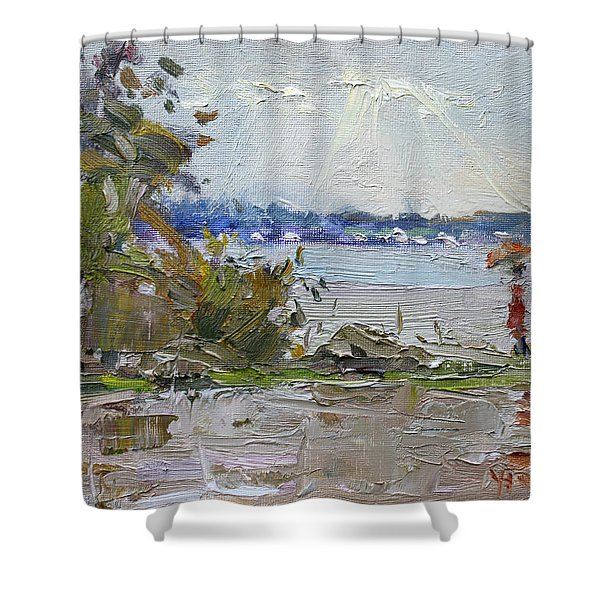 The End Of A Rainy And Gray Day  Shower Curtain