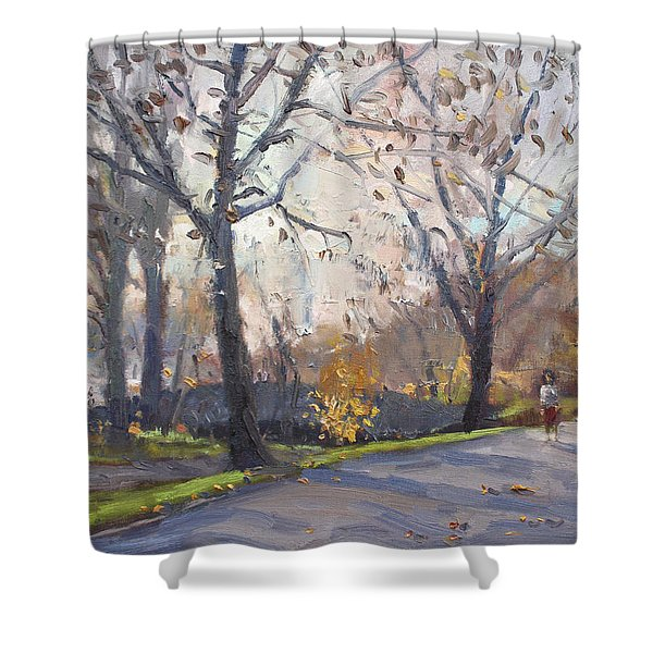 The End Of Fall At Three Sisters Islands Shower Curtain