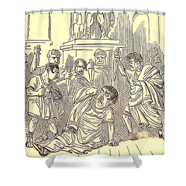 The End Of Julius Caesar Shower Curtain