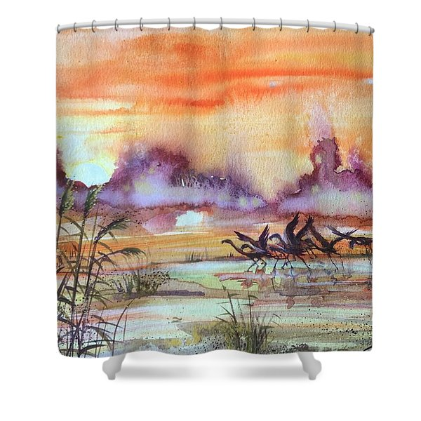 The End Of The Day 2 Shower Curtain