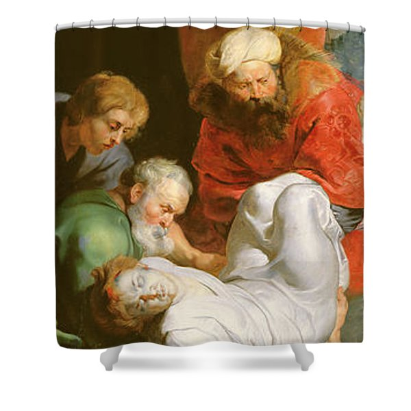 The Entombment Of St Stephen Shower Curtain