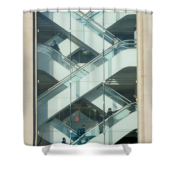 The Escalators Shower Curtain